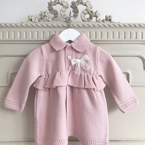 Savona ~ cardigan coat (with matching bonnet from 6 to 18 months)