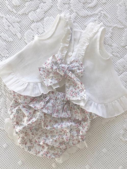 Capri ~ comes with matching floral bonnet