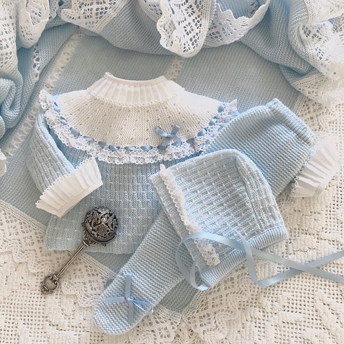 Varese ~ in blue (Bella Ruffle blouse may be purchased separately)