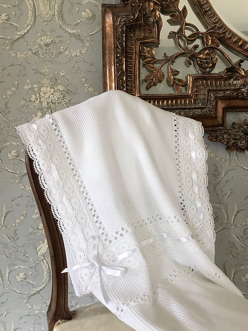 Lucella Lace ~ in pure white with white lace