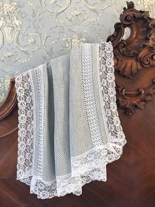 Bella Cartier blanket ~ in gorgeous grey