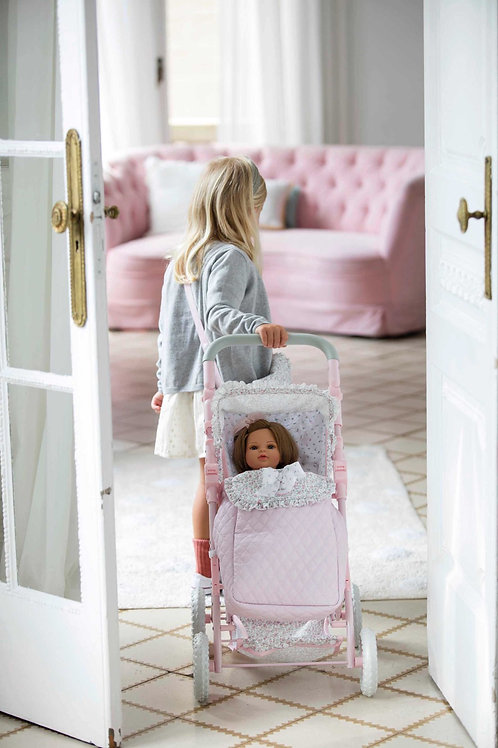 Spanish La Niña pushchair with footmuff (doll sold separately)