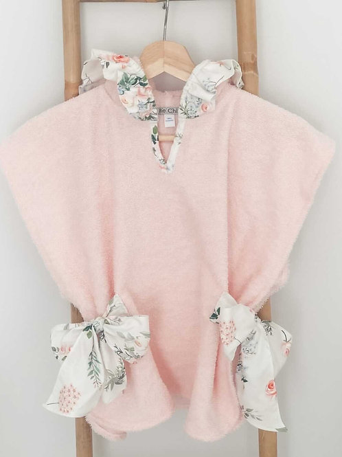Amalfi Coast swimwear collection - hooded beautiful bow poncho