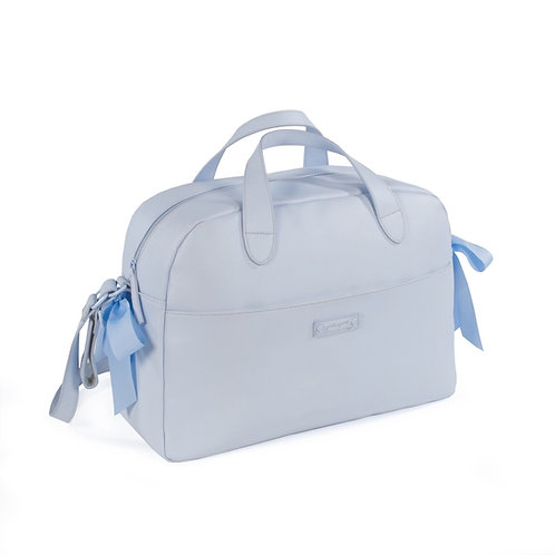 Pasito a Pasito ~ grosgrain bow bag in beautiful blue