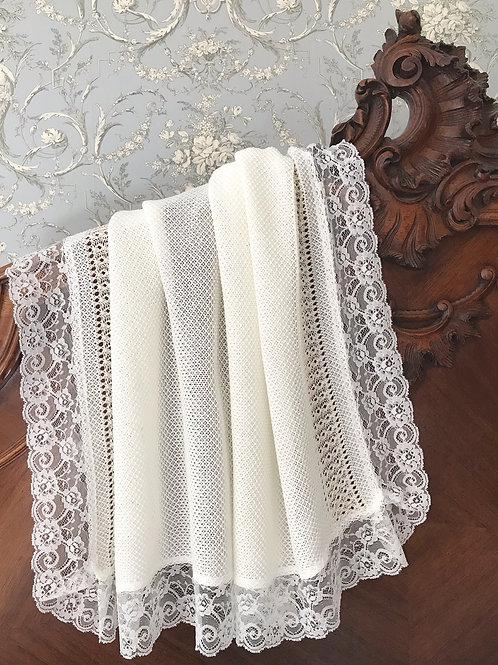 Bella Cartier blanket ~ in chic cream