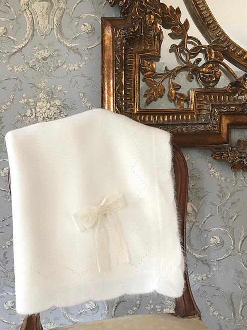 Bella Venezia blanket ~ in ivory