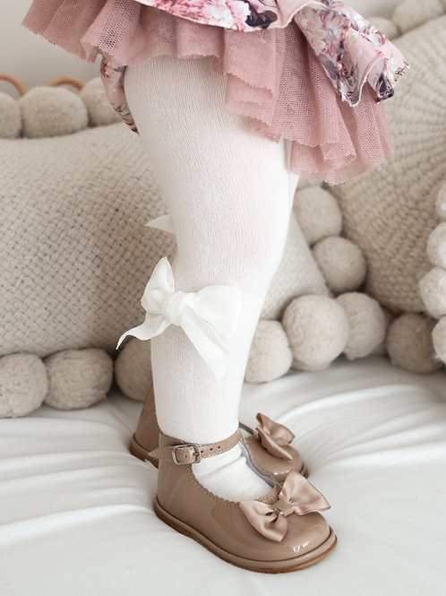 Velvetina bow tights