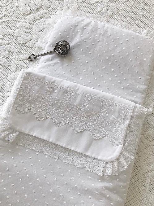 Ascoli Piceno ~ Pram cozy in white (with zip)
