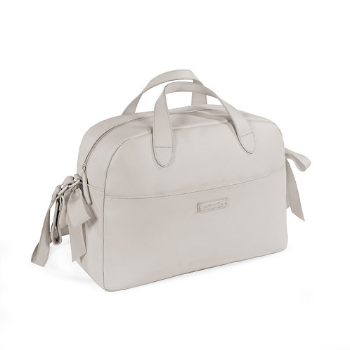 Pasito a Pasito ~ grosgrain bow bag in light grey