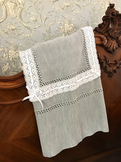 Lucella Lace ~ in dark grey with white lace