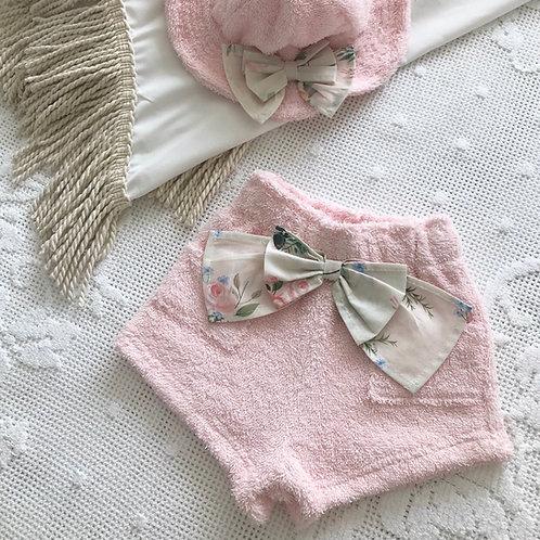 Amalfi Coast swimwear collection ~ floral bow beach shorts