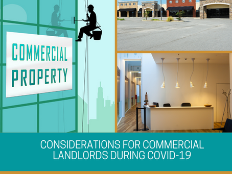 Considerations for Commercial Landlords during COVID-19