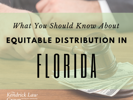 Equitable Distribution In Florida: What You Should Know