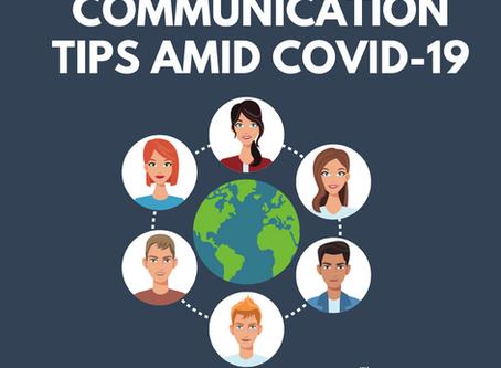 Communication Tips Amid COVID-19
