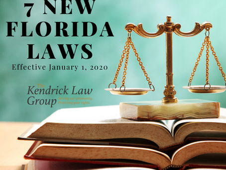 7 New Florida Laws Effective January 1, 2020