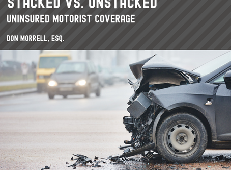 Stacked vs. Unstacked Uninsured Motorist Coverage