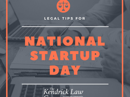 It's National Startup Day! Legal Tips for Your Startup