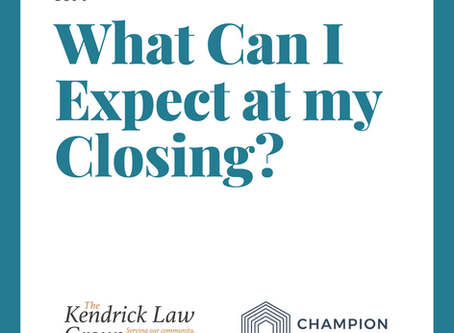 What Can I Expect at my Closing?