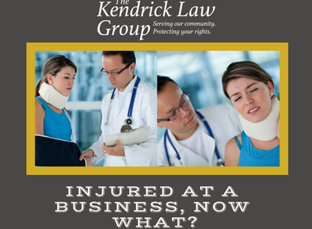 Injured At A Business, Now What?