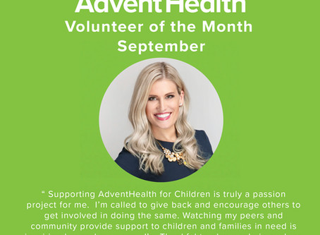 Jessica Kendrick named Volunteer of the Month by AdventHealth
