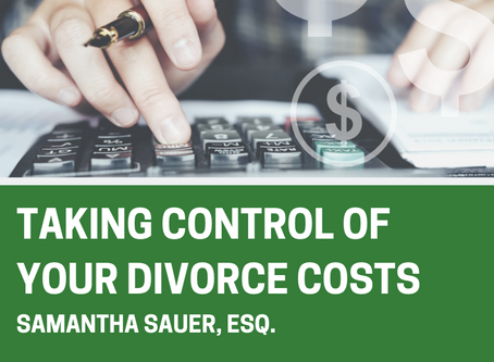 Taking Control of Your Divorce Costs