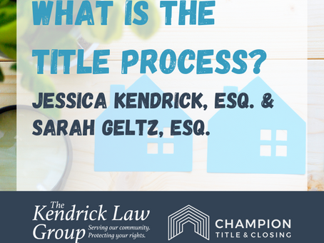 """What is the """"Title"""" Process?"""