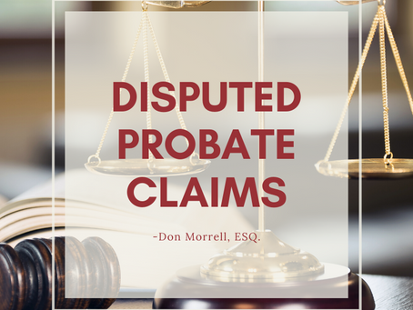 Disputed Probate Claims