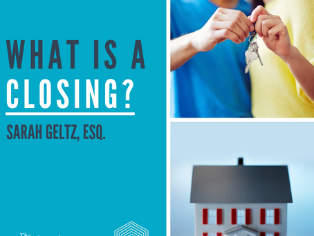 """What is a """"Closing""""?"""