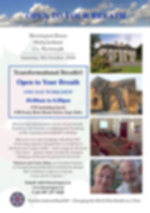 Transform your health and your life. The ultimate stress buster. Reclaim your breath with Transformational Breath Facilitators Michael Blake and Claire Haugh HeartSpace Sanctuary