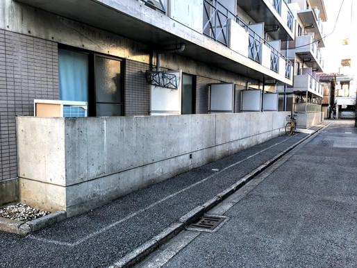 マンションの目隠し工事