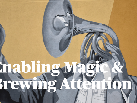 Enabling magic and brewing attention; A guide to hosting improv online