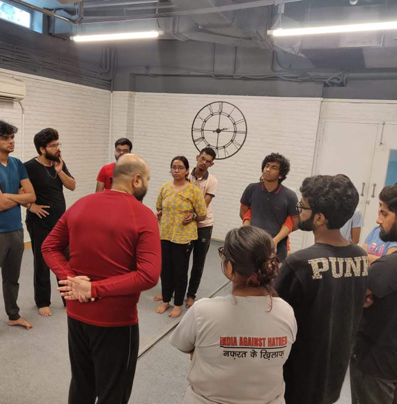 Improv for Performance & Safe Spaces with Ankur, Theatre Society of Khalsa College, University of Delhi