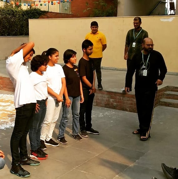 Storytelling with Improv Theatre Workshop at Shiv Nadar School