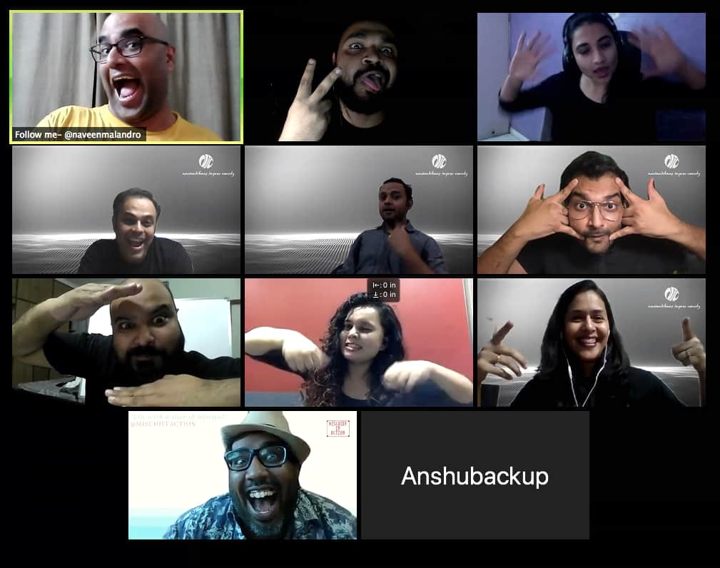 Online Improv Performance with Mischief in Action and Nautankibaaz Improv Comedy
