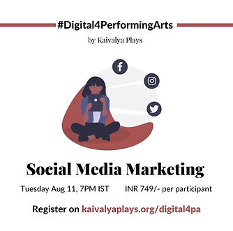 Social Media - #Digital4PerformingArts W