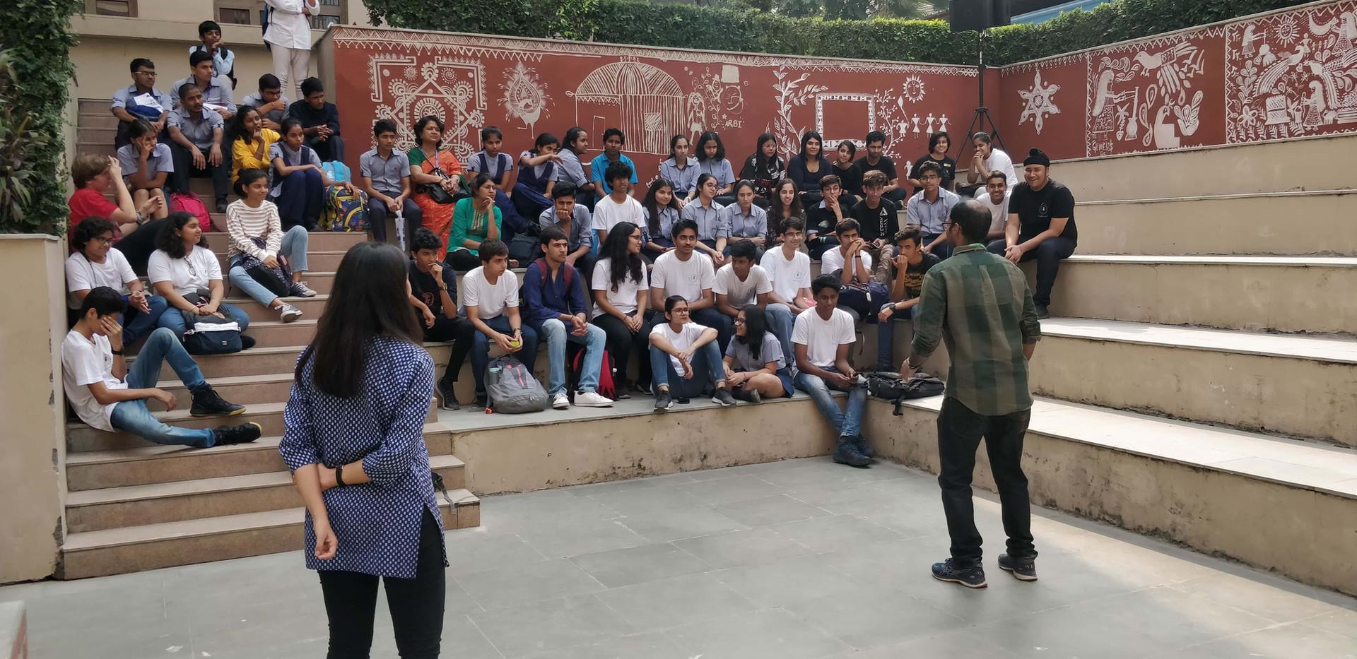 Storytelling Improv Workshop at Shiv Nadar School Noida