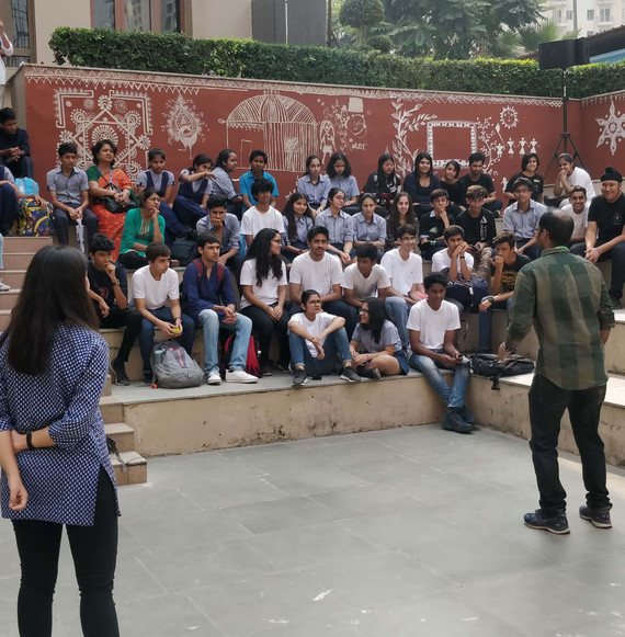 Storytelling Improv Workshop at Shiv Nadar School Noida