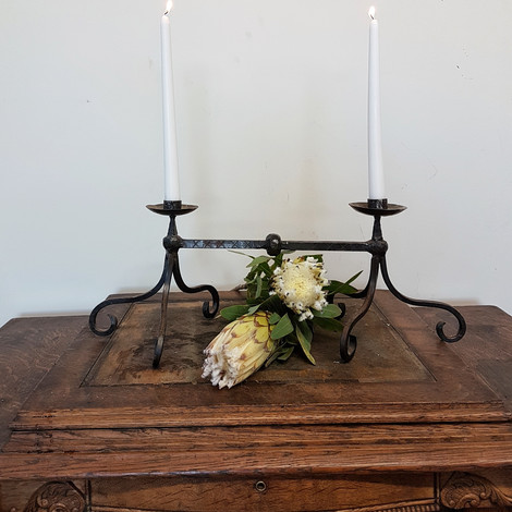 Two point Iron Candle Holder