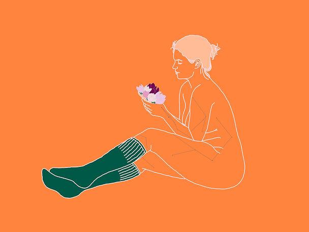 blooming in orange