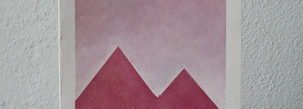 pink mountains // pink sky