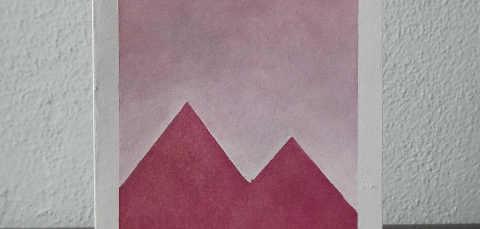 pink mountains // pink sky