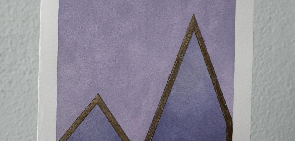 purple mountains // purple sky