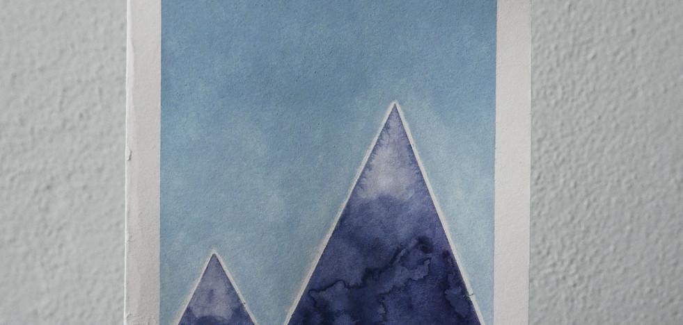 blue mountains // blue sky