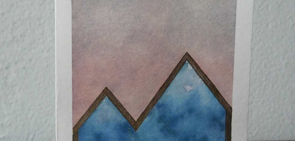 blue mountains // sunset