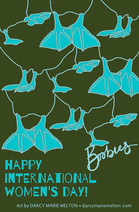 Happy International Women's Day Blue Foo
