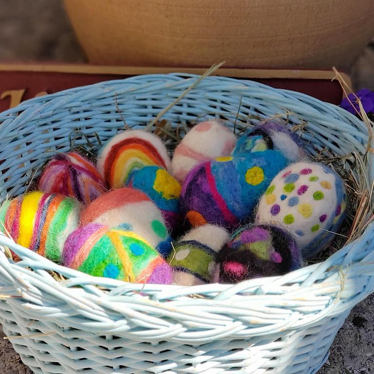 Alpaca Fiber Easter Egg Party