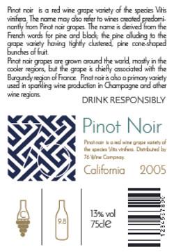 Pinot Noir Back