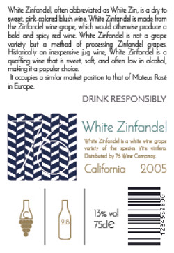 White Zinfandel Back