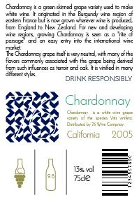 Chardonnay Back