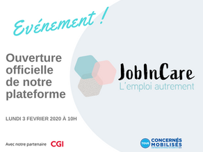 Lancement officiel de JobInCare !